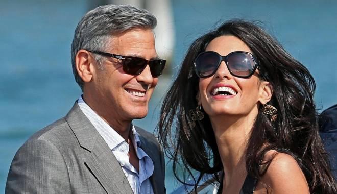 Foto: Scandal în familia Clooney. Crize de gelozie, după ce soţul flirtează cu altă femeie