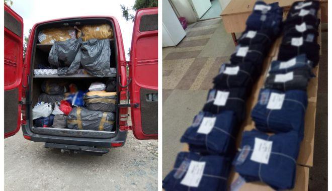 Foto: Articole vestimentare susceptibile a fi contrafăcute, descoperite de polițiștii de frontieră