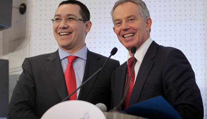 Foto: Tony Blair primeşte 1 MILION DE LIRE ca să îi dea sfaturi lui Victor Ponta