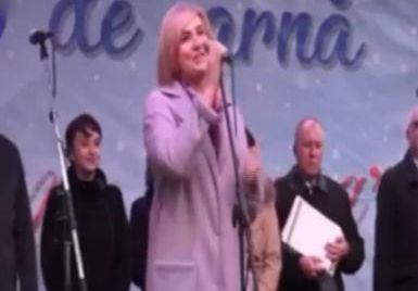 Foto: Mesajul de Crăciun al unei deputate din Republica Moldova: