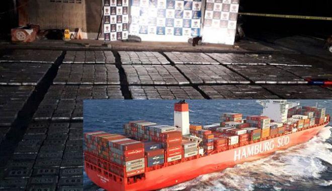Foto: 1.144 kilograme de cocaină pură, descoperite pe un portcontainer