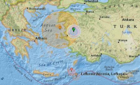 Foto: A FOST CUTREMUR!  S-a resimţit în Grecia şi în Turcia
