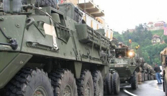 Foto: Echipamentele militare ale SUA folosite pe teritoriul României, depozitate în baza Mihail Kogălniceanu