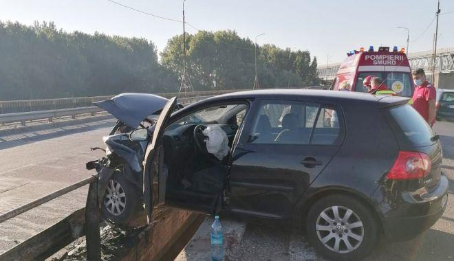 Foto: Accident rutier pe Autostrada Soarelui. Traficul a fost restricționat!