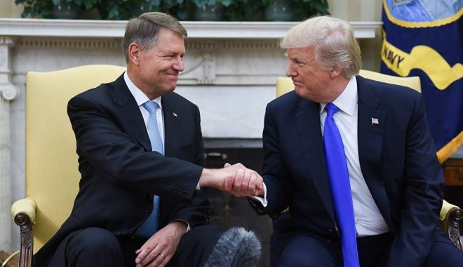 Foto: Klaus Iohannis se întâlneşte cu preşedintele SUA, Donald Trump