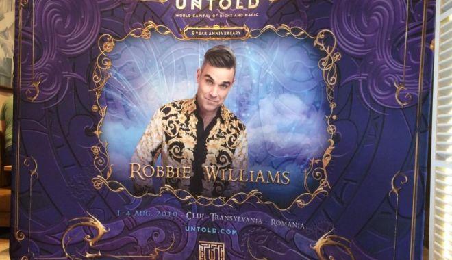 Foto: Robbie Williams vine la UNTOLD! Încă 10.000 de abonamente, puse la dispoziția fanilor