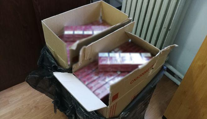 Foto: Țigări de contrabandă, descoperite de polițiștii de frontieră din Constanţa