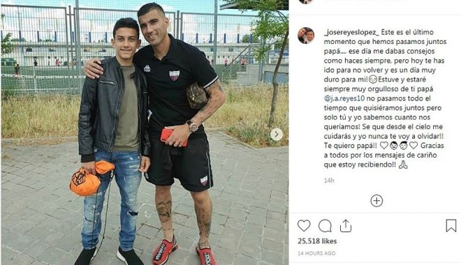 Foto: Fiul regretatului Reyes a semnat cu Real Madrid. Mesajul emoționant al puștiului pe Instagram