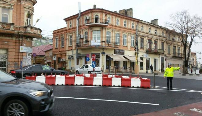 Foto: Şoferi, atenţie! Sens unic pe bulevardul Tomis, între Grand şi Lupoaică