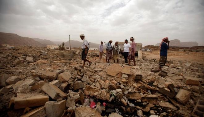 Foto: Cinci presupuși membri ai Al-Qaida și trei civili, uciși de o dronă în Yemen