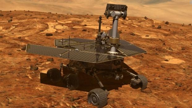 """Foto: NASA declară oficial """"decesul"""" robotului Opportunity, care a cercetat suprafaţa planetei Marte"""