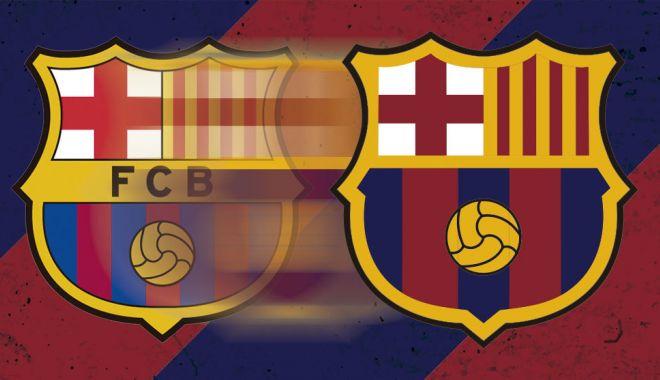 Foto: FC Barcelona îşi schimbă emblema tradiţională. Cum arata viitoarea siglă FOTO
