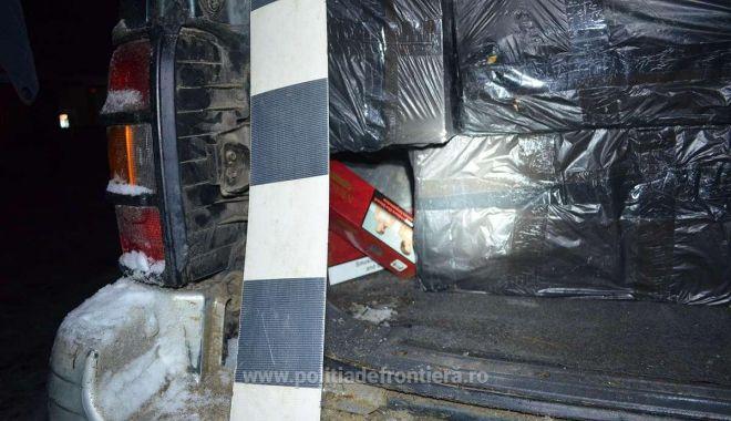 Foto: 19.000 de pachete cu țigări, confiscate la frontieră