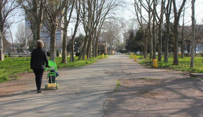 Foto: Prin parcurile Constanţei, cu scaunul de-acasă?