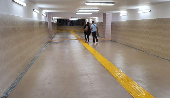 GALERIE FOTO / Tunelul pietonal din Gara Constanța a fost redeschis.