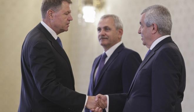 Foto: Consultările dintre preşedintele Iohannis şi PSD-ALDE s-au încheiat după 15 minute