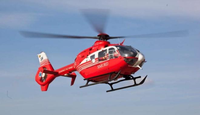 Foto: UPDATE / Un bărbat din Dumbrăveni, adus la spital cu elicopterul