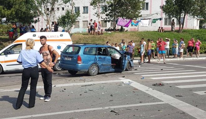 GALERIE FOTO-VIDEO / GRAV ACCIDENT RUTIER LA CONSTANŢA. MAI MULTE VICTIME ÎNCARCERATE! UPDATE