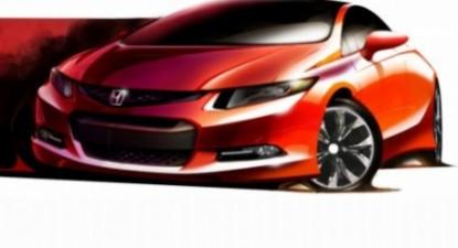Foto: Noua generaţie Honda Civic, prezentată într-o schiţă, înaintea debutului mondial de la Detroit