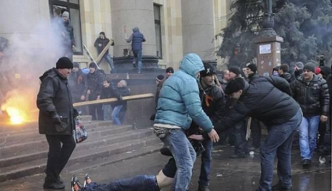 """Foto: Ucraina: Anchetă pentru """"atentat terorist"""" după o nouă explozie în centrul orașului Harkov"""