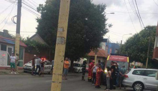 Foto: GALERIE FOTO / ACCIDENT CU 4 VICTIME, după ce un autoturism S-A RĂSTURNAT la Constanța