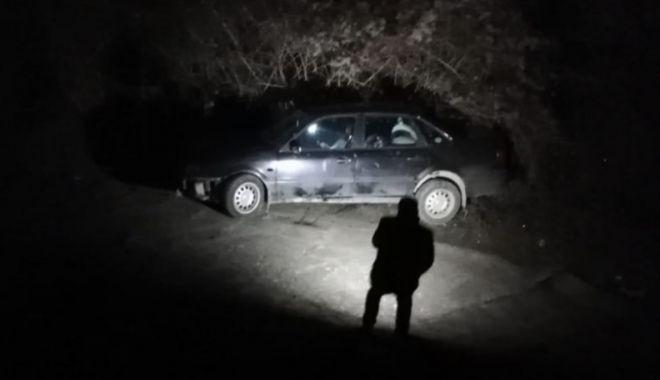 Foto: Mașină căzută de pe pod, la Murfatlar!