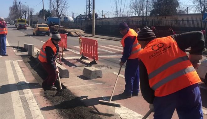 Foto: Treceri de pietoni mai sigure, la Constanța