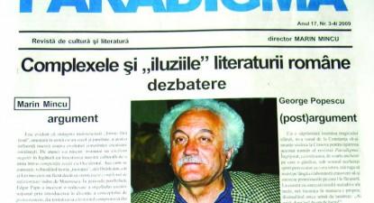 Declarații de nemurire pentru Marin Mincu în noul număr al revistei