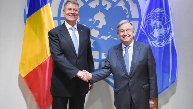 Foto: Klaus Iohannis, la ONU: România îşi menţine angajamentul privind posibila înfiinţare a unei Curţi Internaţionale împotriva Terorismului