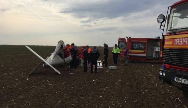 Foto: Pilotul avionului care a aterizat forţat în Alba sâmbătă a murit