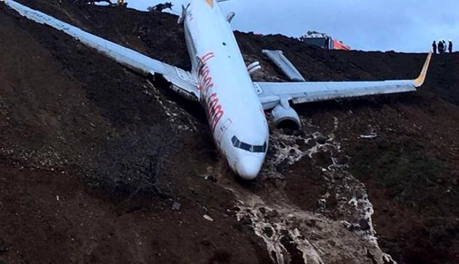 Foto: VIDEO INCREDIBIL. Un avion de pasageri, aproape să cadă în Marea Neagră