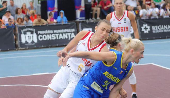 Foto: VICTORIE DE SENZAŢIE! Echipa naţională feminină de baschet 3 la 3 a României a învins Rusia