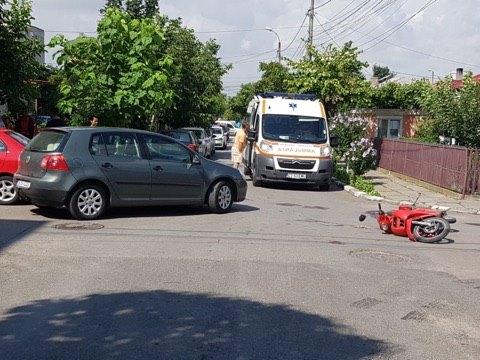 Foto: FOTO / ACCIDENT RUTIER, ÎNTRE EFORIE ŞI AGIGEA! Victima, conducătorul unui moped