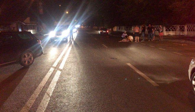 Foto: Pieton accidentat grav, pe o stradă din Constanţa, de un şofer băut