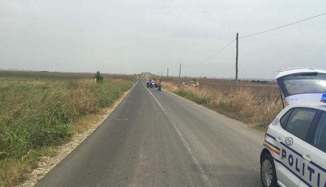 Foto: Accident rutier la Ovidiu, după ce un şofer a pierdut controlul volanului