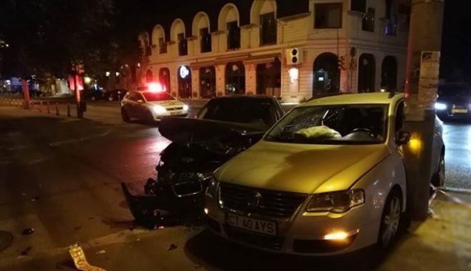 Foto: ACCIDENT RUTIER LA CONSTANŢA, din cauza unui şofer care nu a oprit la STOP. Ce spune Poliţia Rutieră