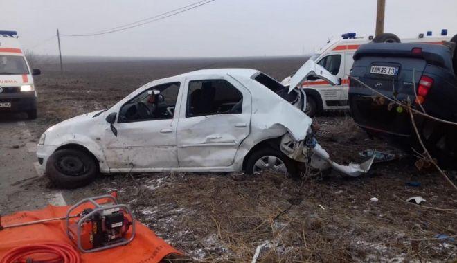 Foto: UPDATE. Poliţia Constanţa: Cum s-a produs accidentul de azi, soldat cu cinci victime