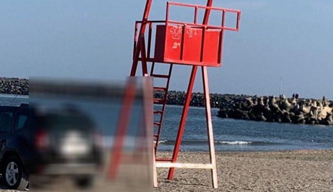 Galerie foto! Amendă usturătoare, pentru un şofer prins cu maşina pe plaja Trei Papuci - 51691314254256895488735476192500-1549877780.jpg