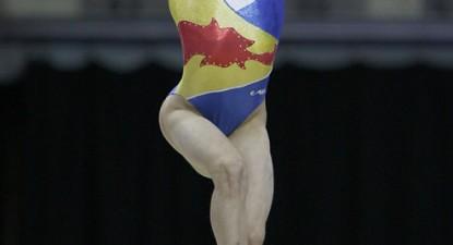 Foto: Gimnasta Ana Porgras îşi face temele pentru Campionatul Mondial
