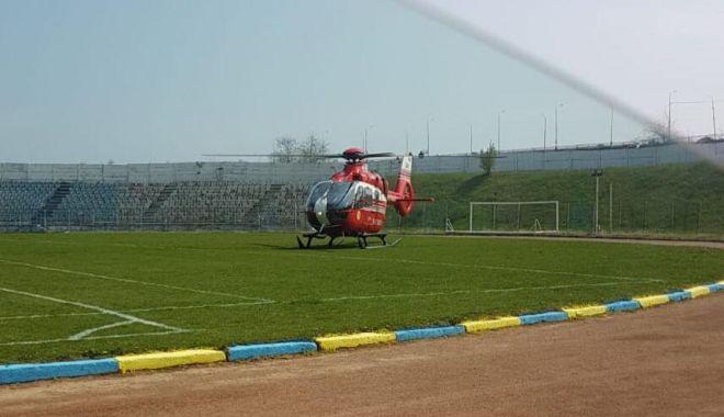 Foto: Bărbat înjunghiat de soţie, la Năvodari! Intervine elicopterul SMURD