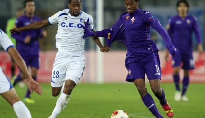 Foto: Meci de coşmar pentru Pandurii în Europa League. Fiorentina a marcat golul victoriei în prelungiri