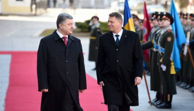 Foto: Președintele Klaus Iohannis, �nt�lnire cu omologul s�u ucrainean, Petro Poroșenko