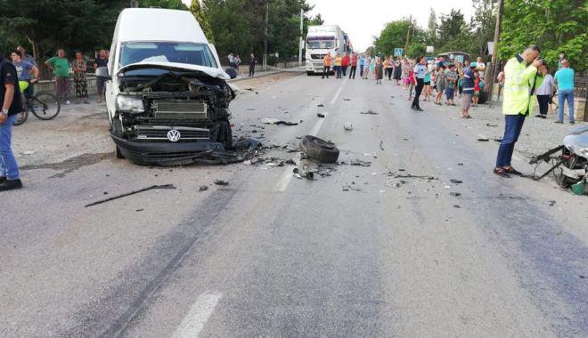 Foto: Copilul rănit în accidentul provocat de mama sa, în stare gravă la Spitalul Judeţean Constanţa