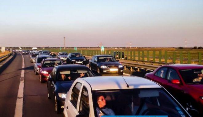 Foto: ŞOFERI, ATENŢIE! Circulația este blocată pe Autostrada Soarelui
