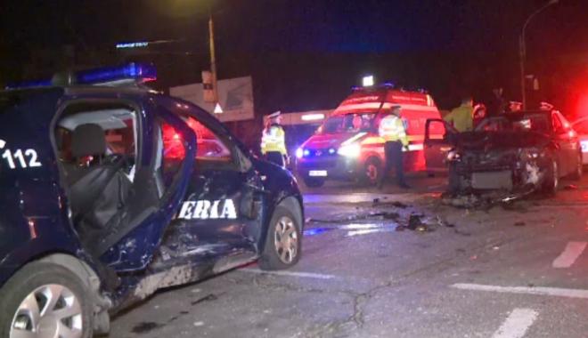 Foto: Maşină a jandameriei, implicată din nou într-un accident! PATRU VICTIME