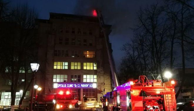 Foto: SITUAŢIE ALARMANTĂ! Bloc operator distrus în incendiu. Bolnavii de inimă nu mai pot fi operați