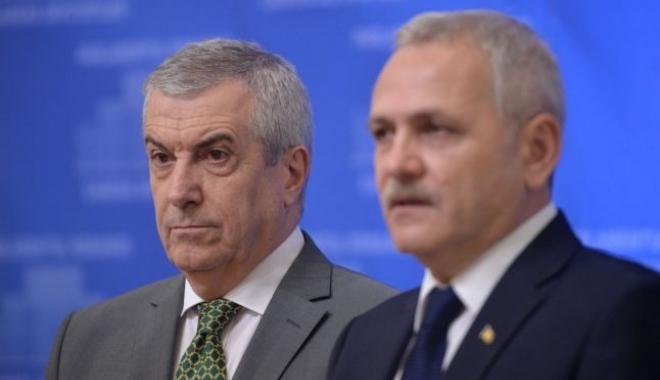 Foto: Tăriceanu și Dragnea: SUA trebuie să aibă încredere în Parlamentul României