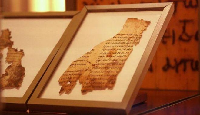 Foto: Fragmente din Manuscrisele de la Marea Moartă, expuse la Washington, sunt false