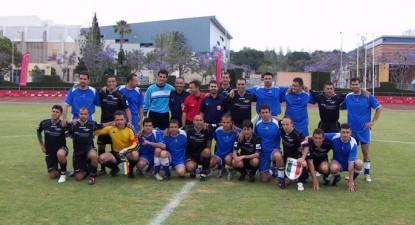 Foto: Avocaţii constănţeni Calaigii şi Gudi, cei mai buni la fotbal, la campionatul mondial din Turcia