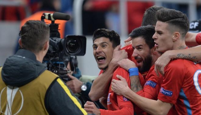 Foto: Fotbal / FCSB - Beer Sheva, 1-1, în Europa League. Roș-albaștrii își mențin poziția de lider în grupă